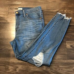 Madewell 9in High-Rise Distressed skinny jeans